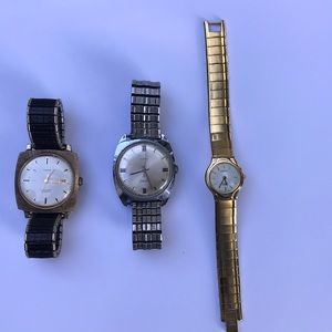 2 vintage timex and 1 lady citizen